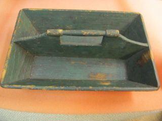 Primitive Antique Cutlery Tray_knife Box_pine_painted Tray_as Found photo