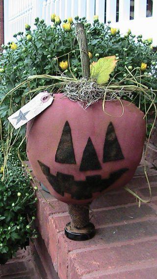 Folk Art Style Stand Alone Pumpkin 13
