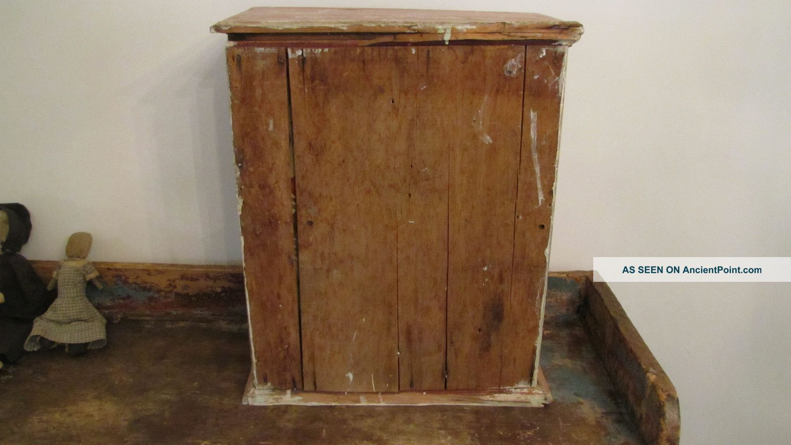 Wooden Wood Wall Table Cabinet Cupboard Paint Primitives Photo 10. Full resolution  snapshot, nominally Width 1600 Height 900 pixels, snapshot with #6E4626.