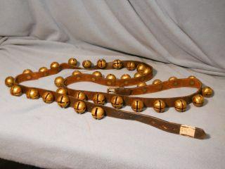 Antique Brass Sleigh Bells - 36 Bells // 82