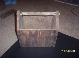 Old Rustic Primitive Carrier Tool Box.  Reduced photo