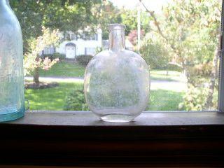 Antique 19th C.  Little Pumpkin Seed Pocket Size Liquor Flask photo