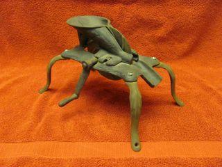 Antique Cast Iron Cherry Pitter Stoner 4 Spider Leg Design Primitive Vintage photo