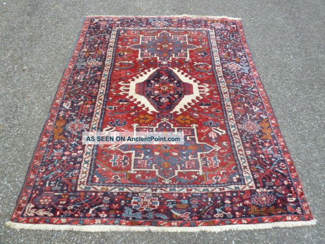 Antico - Swiss - 2 - Antique Karaja Rug 4`9 X 6`1ft Other photo