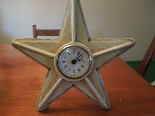 Country Primitive Star Clock Cream photo