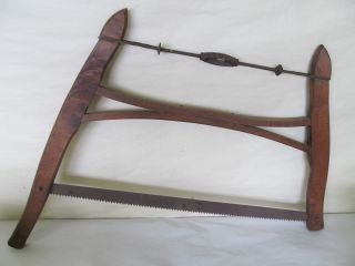 Antique Primitive Saw Wood Saw Unique Solid Wood Pegged Saw Hand Saw photo