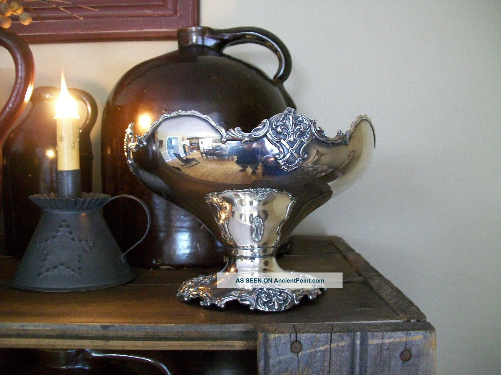 Vintage Poole 965 Quadruple Silver Plate Footed Dish Dishes & Coasters photo