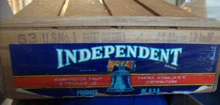 Vintage Independent Cherry Crate photo