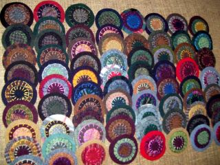 150 Wool Pennies For Penny Rugs 3 Sizes - U Sew photo