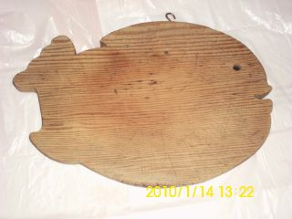 Vintage Wooden Fish Shaped Cutting Board photo