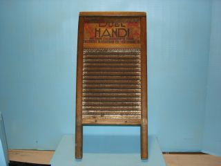 Vintage Mini Dubl Handi By Columbus Washboard Co,  Wood & Metal,  Great Litho Ad photo