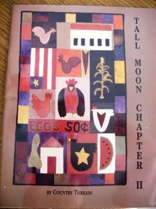 Tall Moon Chapter Ii - Wool Applique Folk Art Quilt Patterns - Panels Or Full Quilt photo
