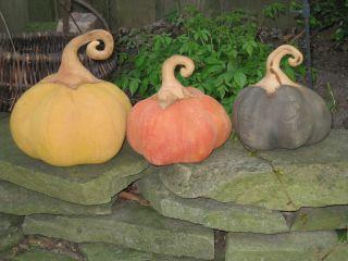 Primitive Trio Early Harvest Folk Art Grungy Pumpkins photo