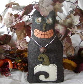 Whimsical Autumn Wool Cat Doll~pillow~fall~halloween photo
