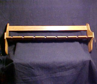 Vintage Spoon Rack With Plate Wall Rack Holds 8 Spoons Primitive Folk Art photo