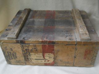 Vintage World War Ii Ammo Box/crate /interarms Alexandria Va / Ammunition / Ww 2 photo