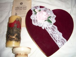 A Gift For The Heart Eternal Love Romantic Candle With Heart - Shaped Box & Poetry photo