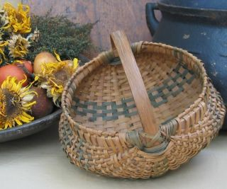 Small Antique Primitive Splint Buttocks Basket photo