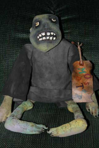 Primitive Folk Art Halloween Monster photo