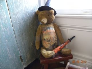 Primitive Halloween Bear With Hat And Noise Maker photo