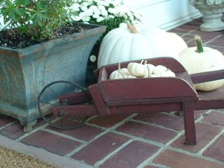 Antique Childs Red Wheelbarrow / Old Paint photo