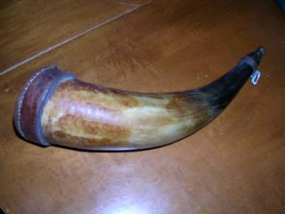 Antique Black Powder Horn photo