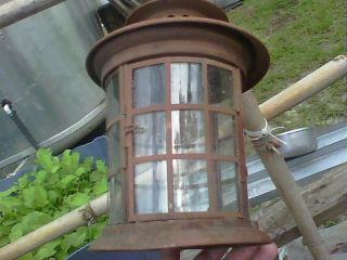 Antique Tin~ Farm ~ Lantern. . .  Very,  Very. .  One photo