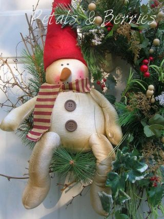 Country Christmas,  Winter Holiday Snowman,  Door Wreath Arrangements photo