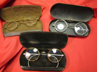 Three Very Old Pairs Of Spectacles photo
