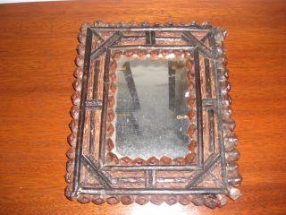 Primitive Tramp Art Natural Materials 8 1/4