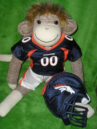 Denver Broncos Nfl Football Sock Monkey Doll ~ Peyton Manning photo
