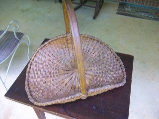 Early Large Flower Gathering Splint Basket photo