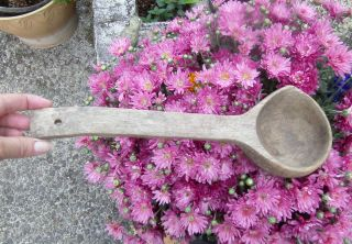Antique Wooden Carved Ladle Found On Oregon Trail 1800 ' S?? photo
