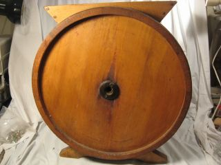 Antique Wood Round Half Barrel Butter Churn - Would Make A Great Table photo