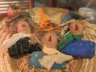 Three Fall Scarecrows - Just So Cute photo