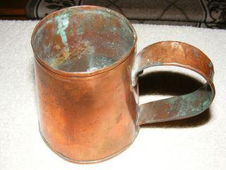 Early American Copper Tavern Mug photo