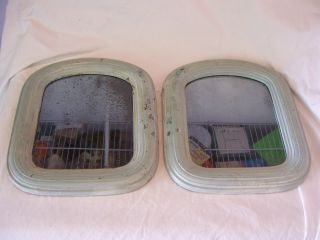 Aafa - 19th C Pair Of Mirrors All Blue Paint photo