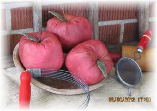 Primitive Fall Cinnamon Grungy Apples - Set Of 3 Large Apples - Wonderful Scent photo