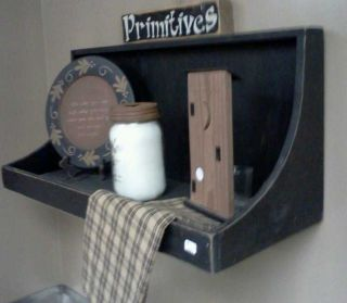 Handmade Large Primitive Wall Shelf. .  You Your Pick Color 28