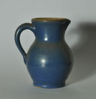 Small Primitive Redware Glazed Pitcher N1 photo