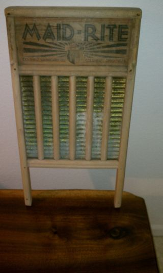 Vintage Maid - Rite Washboard Columbus Washboard Co.  Usa Large 12 X 24 photo
