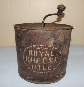 Antique Primitive Royal Cheese Mill W Japanned Finish photo