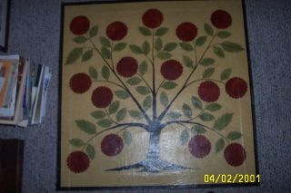 Primitive Floor Cloth,  Hand Painted photo