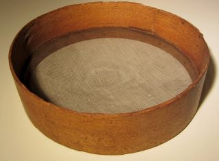 - Wooden Sifter Sieve - Vermont Country Farm - Antique Primitive Wood - photo
