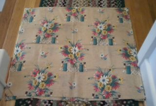 Antique Drapery Quilt Fabric 1 Yd - 34 In W.  All Cotton C1930 Toy Soldier New photo