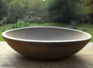 Primitive Farmhouse Old Wood Dough Butter Bowl Kitchen Serving Bowl photo