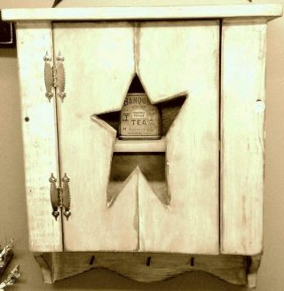 Primitive Handmade Star Wall/medicine Cabinet. .  You Choose Color photo