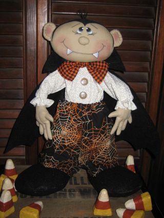 Primitive Hc Halloween Standing Dracula Doll Ornie Tuck Shelf Sitter photo