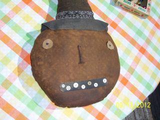 Primitives Reproduction Pumpkin Head Autumn Decoration photo