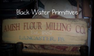 Primitive Amish Flour Milling Co Wooden Sign Aged To Perfection Kitchen photo